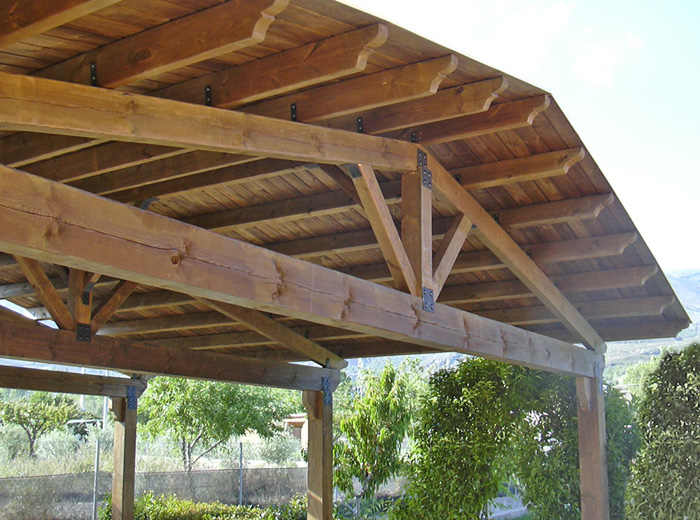 P rgolas de madera almer a equindagro sl - Como hacer pergola de madera ...